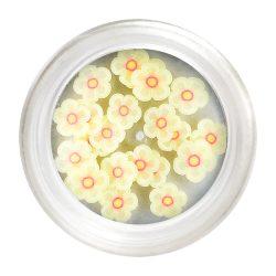 Halvány Sárga gumi virág dísz