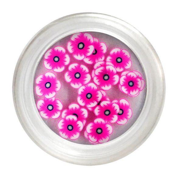 Ciklámen gumi virág dísz