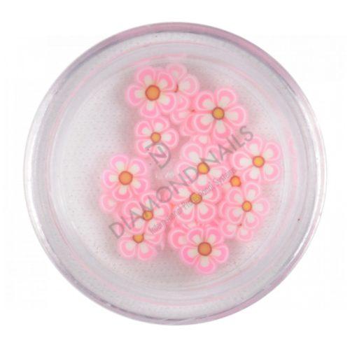 V.rózsaszín gumi virág dísz