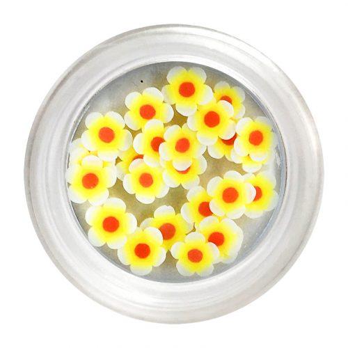 Citromsárga gumi virág dísz