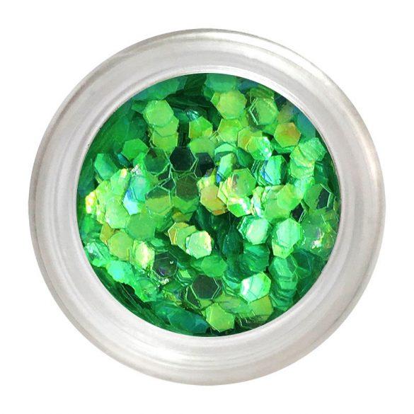 Metál Hologrammos lap - zöld