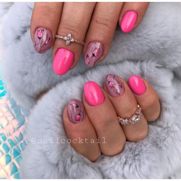 Gél Lakk - DN048 - Neon rózsaszín - Zselé lakk