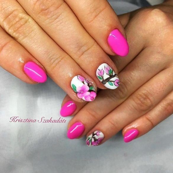 Gél Lakk 4ml -DN090 - Bonbon rózsaszín - Zselé lakk