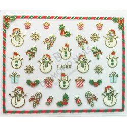 Karácsonyi Körömdíszítő matrica - TJ-060