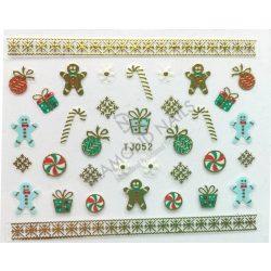 Karácsonyi Körömdíszítő matrica - TJ-052