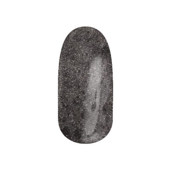 Zselé Lakk - DN116 - Króm csillám, fekete hexagonokkal