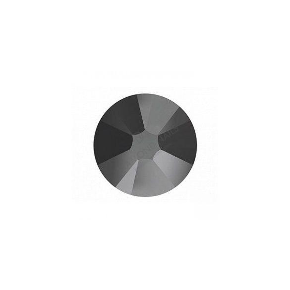 Swarovski jet hematite kerek kristály SS5 100db