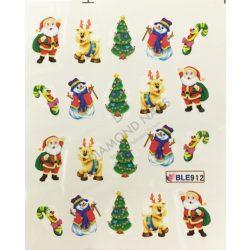 Karácsonyi Körömdíszítő matrica - BLE-912