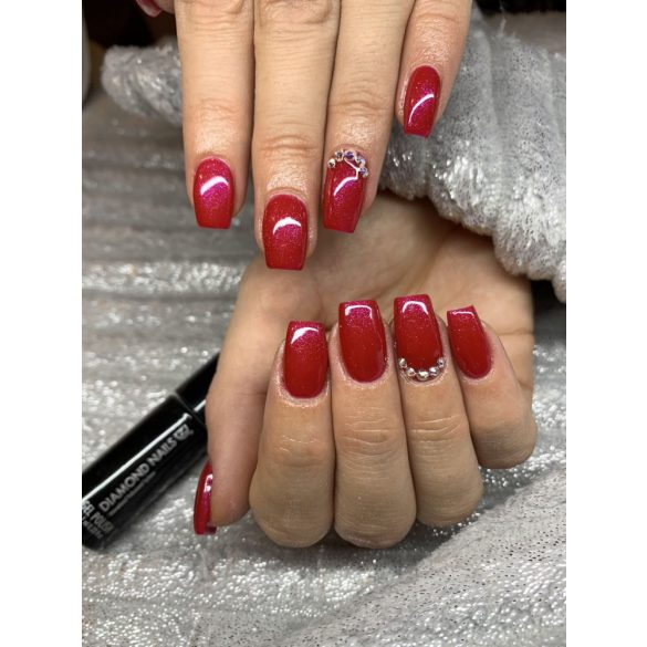 Gél Lakk - DN135 - Pinken irizáló piros - Zselé lakk
