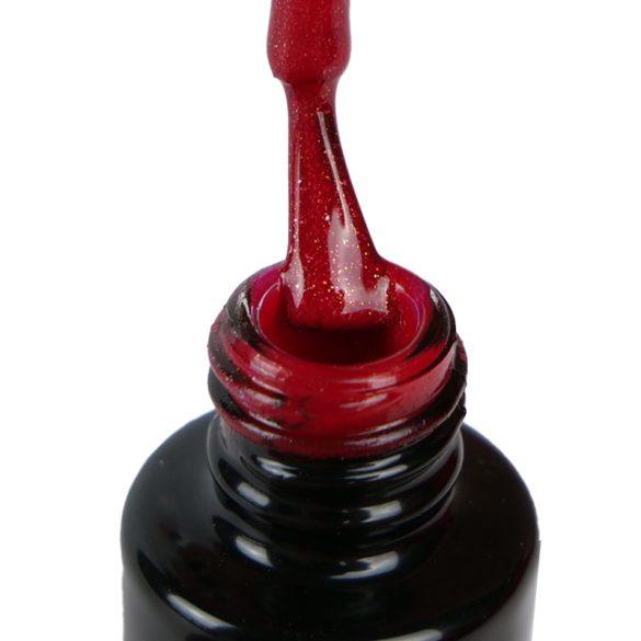Gél Lakk - DN136 - Apró csillámos karácsony piros - Zselé lakk