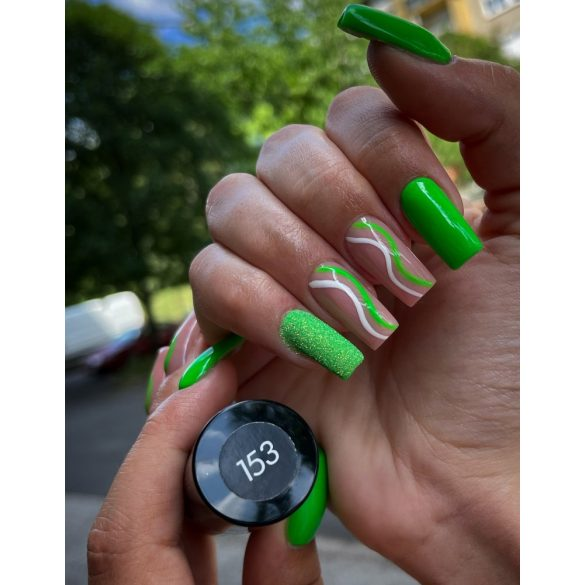 Gél Lakk - DN153 - Neon zöld - Zselé lakk
