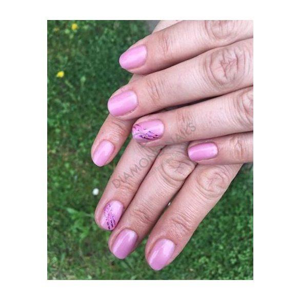 Gél Lakk - DN158 - Rózsaszín selyem - Zselé lakk