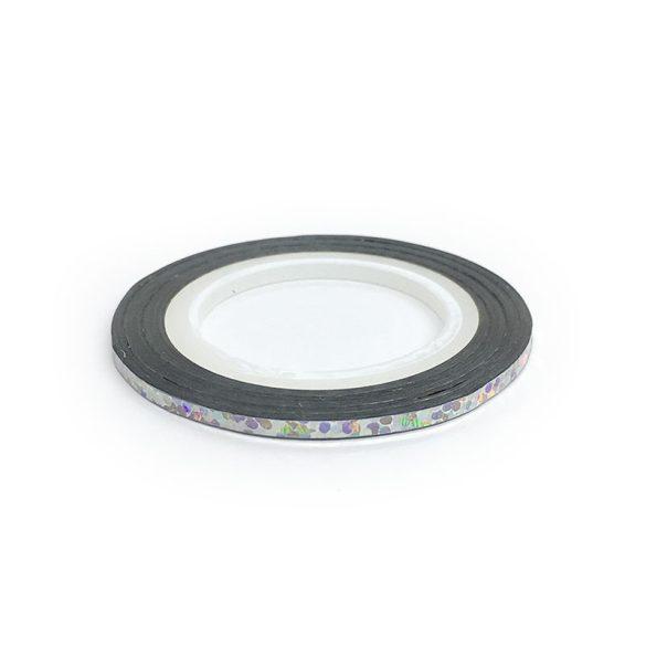 Díszítő csík - ezüst hologram