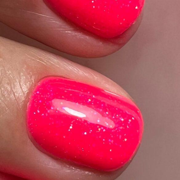 Gél Lakk - DN193 - Csillámló neon pink - Zselé lakk