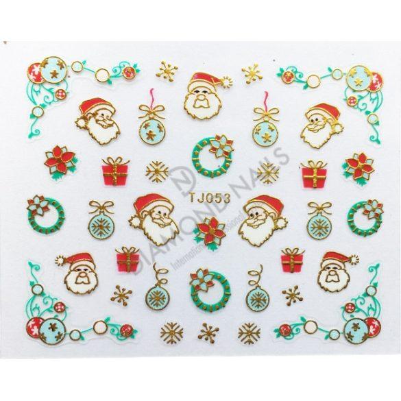 Karácsonyi Körömdíszítő matrica - TJ-053