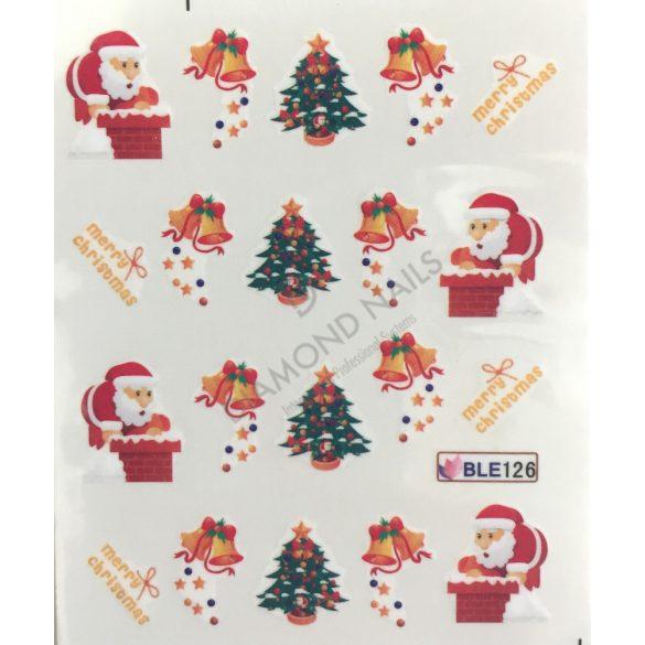 Karácsonyi Körömdíszítő matrica - BLE126
