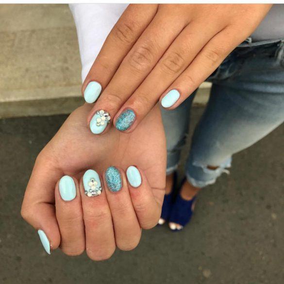 Zselé Lakk 4ml - DN047 - Világos türkiz