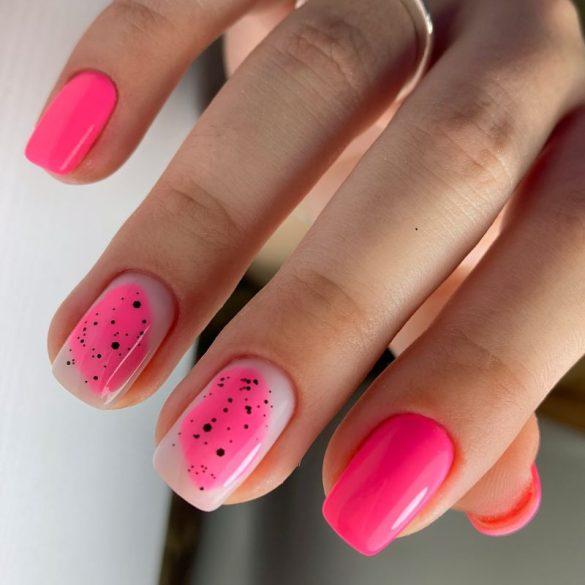 Gél Lakk 4ml -DN048 - Neon rózsaszín - Zselé lakk