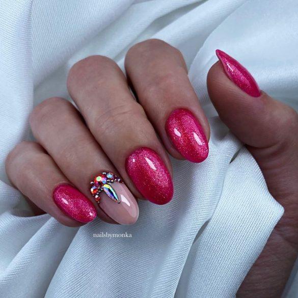 Zselé Lakk 4ml - DN163 - Csillámló rubin