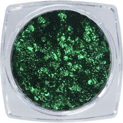 Metál flitter körömdíszítő - sötétzöld