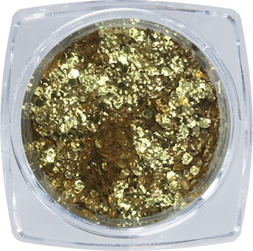 Metál flitter dísz - arany