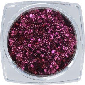Metál flitter köröm díszítő - sötét rózsaszín