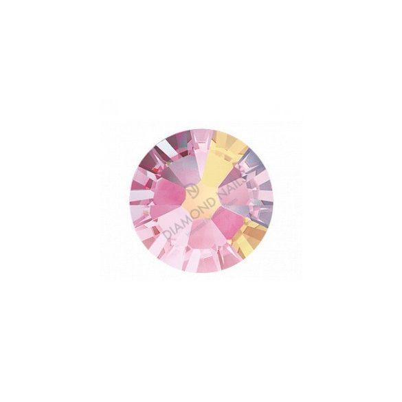 Swarovski SS10 méretű rose aurora kerek kristály 100db