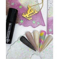 FM fedő gél lakk - Arany csillámos színminta