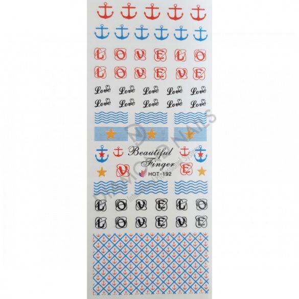 Körömdíszítő matrica - HOT192