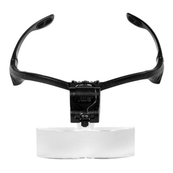 Nagyítós szemüveg LED fénnyel, 5 db lencsével