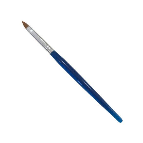 Kék műanyag, műszőr zselés ecset 4-es