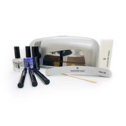 Gél lakk TOLL induló készlet 9W-os UV lámpával (ezüst) 3db tollal - Zselé lakk