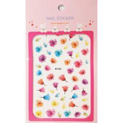 Körömdíszítő matrica - Virágok - MT008