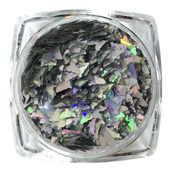 Hologrammos pillangó ezüst