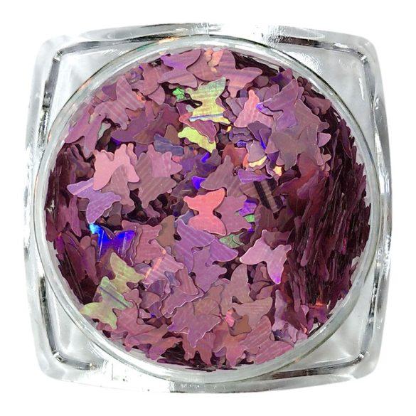 Hologrammos pillangó rózsaszín