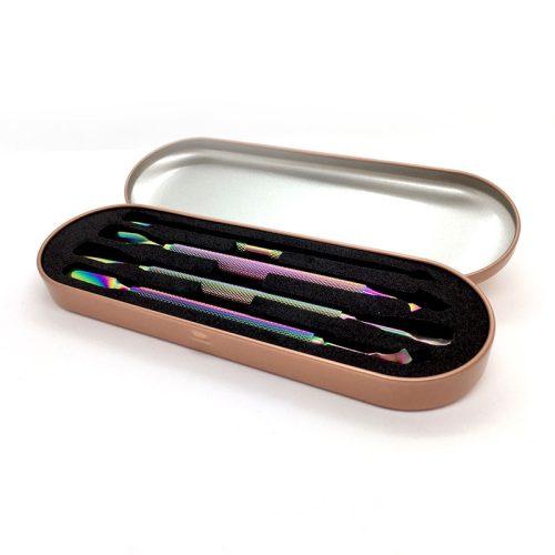 Körömbőr feltoló készlet tokban (multicolor, 4 db-os)