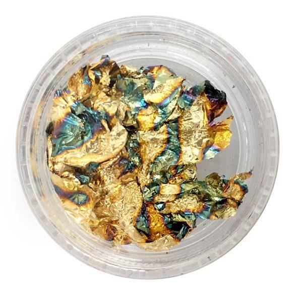 Füst fólia - kékes arany