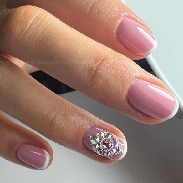 Gél Lakk - Rubber Base - Sweet Pink - Zselé lakk (7 ml)