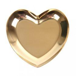 Díszítő kő tartó - szív alakú