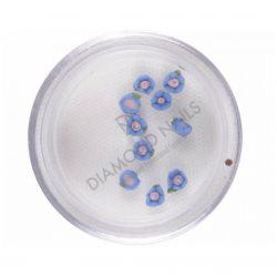 Porcelán kisvirág - S.kék