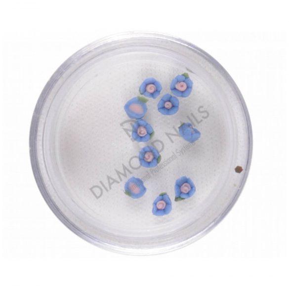 Porcelán kisvirág 3mm- s.kék