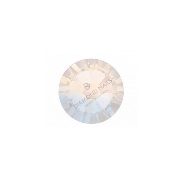 Swarovski   SS10 méretű fehér opál kerek kristály 100db