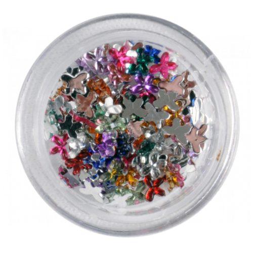 Strasszkő Pillangó mix