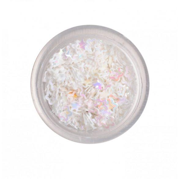Műanyag virág fehér
