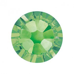 Swarovski   SS10  méretű v.zöld kerek kristály 100db