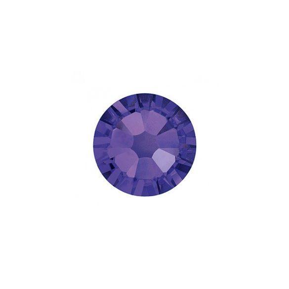 Swarovski   SS10  méretű sötétlila kerek kristály 100db