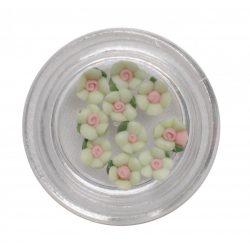 Világos zöld porcelán kisvirág