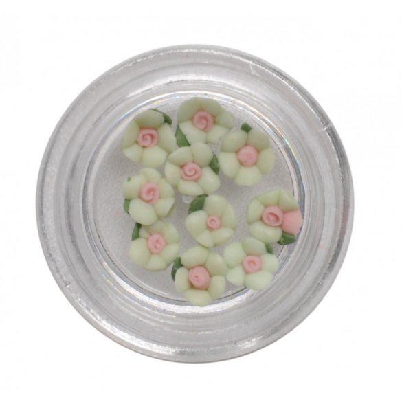 Világos zöld porcelán kisvirág 3mm