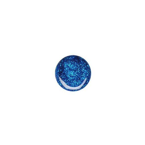 Kék csillám zselé 074