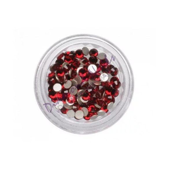 Swarovski   SS10  méretű piros kerek kristály 100db
